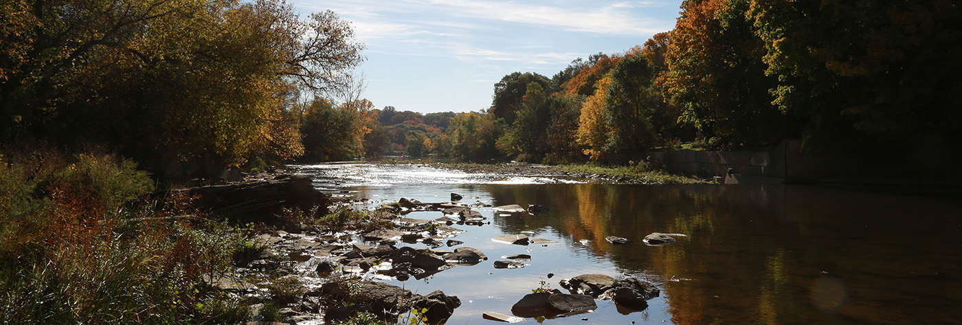 view of the Humber River in autumn