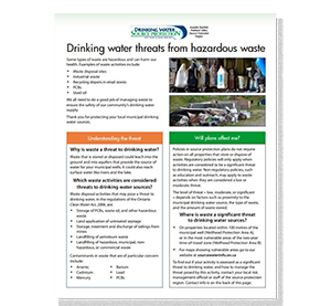 cover of hazardous waste fact sheet