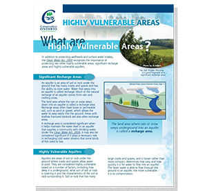 cover of highly vulnerable areas fact sheet