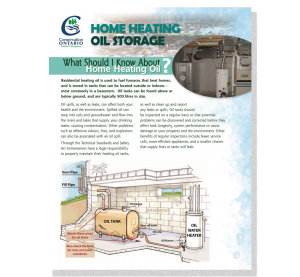 cover page of home heating oil storage fact sheet