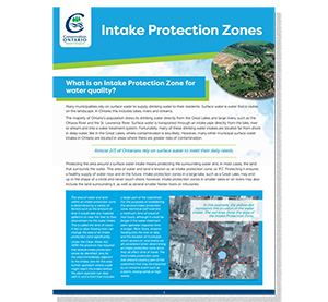 cover of intake protection zones fact sheet