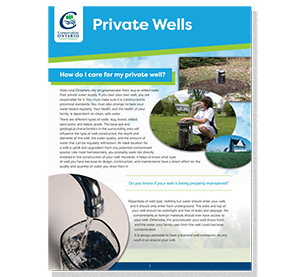 cover of private wells fact sheet