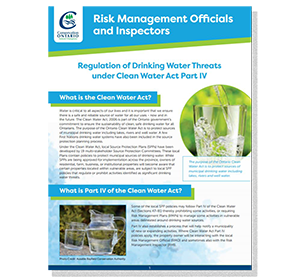 cover of risk management officials fact sheet