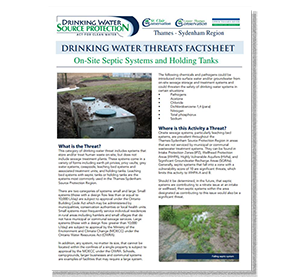 cover of septic threats fact sheet