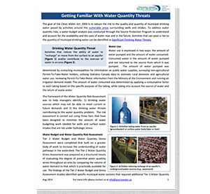cover of Getting Familiar with Water Quality Threats fact sheet