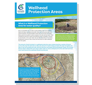 cover of wellhead protection areas fact sheet